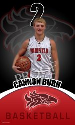 Banner - Fairfield High School Basketball Senior - Cannon Burns