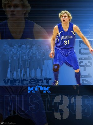 Poster - Quad City Mustangs Senior Basketball Players
