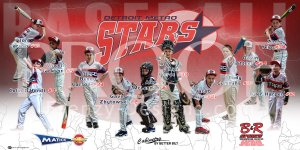 Digital - Baseball - Detroit Metro Stars Baseball Team - Red