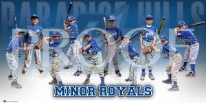 Print - Minor Royals Baseball Team
