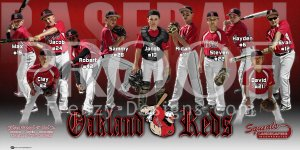 Print - Oakland Reds Baseball Team