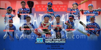 Print - Sterling Heights Nationals Baseball Team