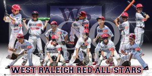 Print - West Raleigh Red All Stars Baseball Team
