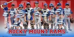 Print - Rocky Mount Rams Baseball Team