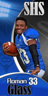 Banner - Pompano Beach High School Senior Football Player