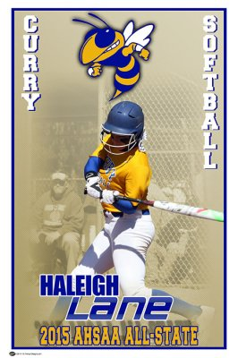 Banner - Softball All-State Curry High School - Haleigh Lane