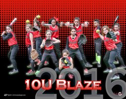 Digital - Custom Softball Poster - Blaze 10U