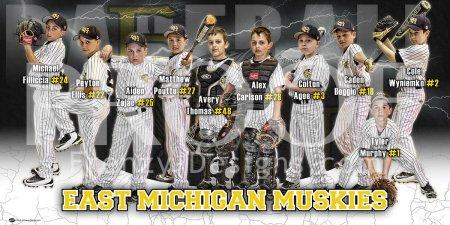 Print - East Macomb Muskies Baseball Team