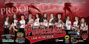 Print - Lake in the Hills Hurricanes Softball Team - Sponsors