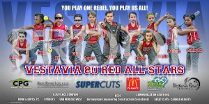 Print - Vestavia 8U Red All-Stars Softball Team