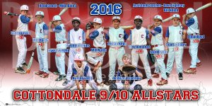 Print - Cottondale AllStars Baseball Team