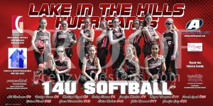 Print - 14U Lake In The Hills Hurricanes Softball Team