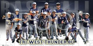 Banner - Tri-West Thunder 8U Baseball Team