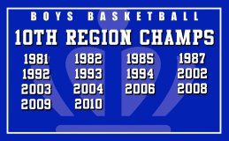Banner - Mason County Boys Basketball Achievement