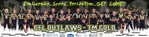Print - CFL Outlaws - TM Gold Football Team