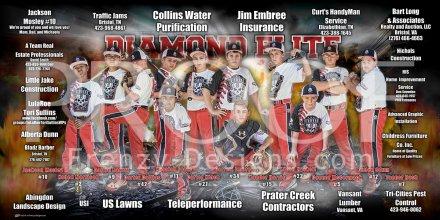 Print - Diamond Elite Black 12U Baseball Team