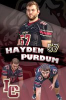 Banner - Lincoln Christian School Football Senior - Hayden Purdum