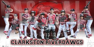 Banner - 2018 Clarkston Riverdawgs 8U Baseball Team