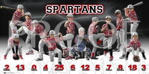 Print - Spartans Baseball Team