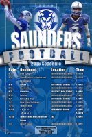 Schedule - 2017 Saunders High School Football Posters