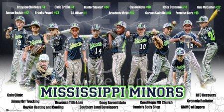 Banner - 2017 Mississippi Minors Baseball Team