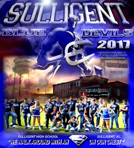 Banner - Sulligent High School - 2017-18 Football Seniors