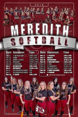 Schedule - 2019 Meredith College Softball