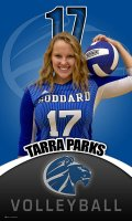Banner -  Goddard High School Volleyball Senior - Tarra Parks