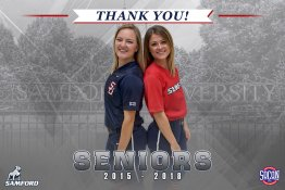 Banner - 2018 Custom Senior Softball Banner - Samford University