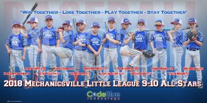 Print - Mechanicsville Little League 9-10 All-Stars Baseball Team