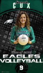 Banner - 2018-19 Rio Vista Lady Eagles Volleyball Players