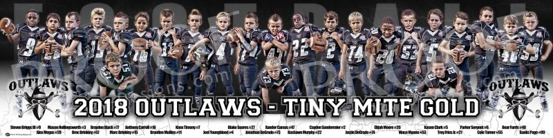 Print -2018  Outlaws Tiny Mite Gold Football Team
