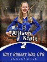 Custom Volleyball Poster - 2018-19 Holy Rosary Wea School