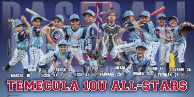 Banner - Temecula 10U All-Stars Updated Baseball Team