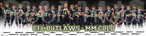 Print -2019 CFL Outlaws MM Gold Football Team