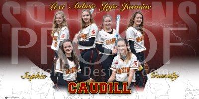 Banner - 2020 Caudill Spartans Softball Team