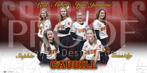 Banner - 2020 Caudill Spartans Softball Team