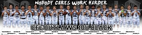 Banner - Creeks Football League -  2020 Creeks Outlaws 10U (duplicate)