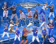 Print - Kingwood Softball Collage - Mat Board