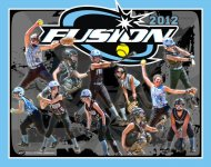 Collage - Fusion Softball - Grunge Sunburst