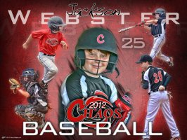 Print - Chaos Baseball - Individual Collages