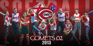 Print - Comets Softball Team