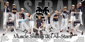 Print - Muscle Shoals 12U Baseball All Stars