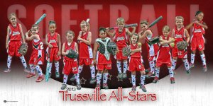 Print - Trussville 6U Softball All-Stars Team Panoramic