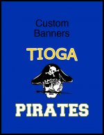 Banner - 2013-14 Tioga Pirates basketball team
