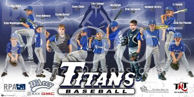 Banner - Troy Titans Baseball Team