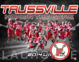 Digital - Custom Lacrosse Poster - Huskies U11