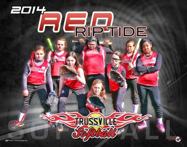 Digital - Custom Softball Poster - Red Rip Tide