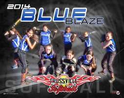 Digital - Custom Softball Poster - Blue Blaze