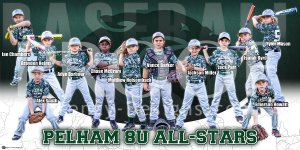 Print - 2014 Pelham 8U All-Stars Baseball Team
